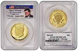 First Chicago gold Kennedy 50c