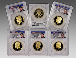 First six Chicago gold Kennedy 50c