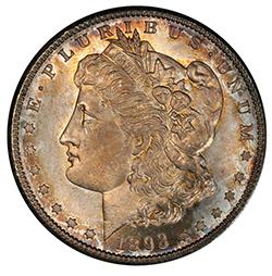 $1 1893-S PCGS MS65 Ex Eliasberg