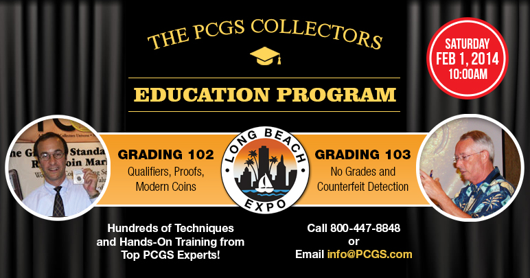 The PCGS Collectors Education Program, Grading Classes