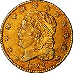 1822 $5 Eagle - Obverse