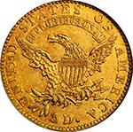 1822 $5 Eagle - Reverse