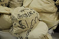 Bags of Barbers, large copper cents and other coins.