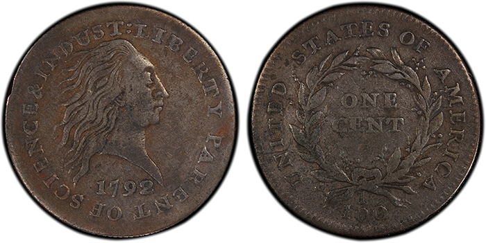 Wolcott 1792 J-2 Cent