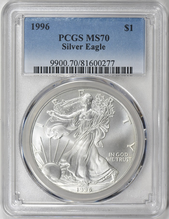 Ms 70 Silver Eagle Better U S Mint Grade Anacs Certified Bullion Coins Image