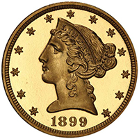 1899 $5 PCGS PR68