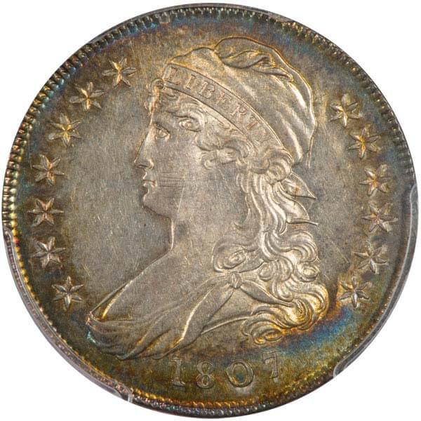 Lot 318 50C 1807 O-113 Small Stars. PCGS MS63 Ex Col. Green and Newman Collections