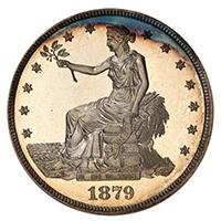 1879 $1 TRADE PCGS PR67+ CAM