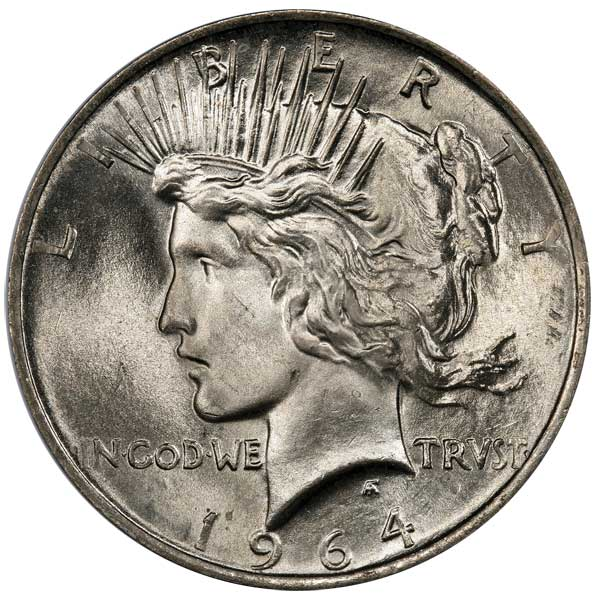 1964 D Peace Dollar Top 100 Modern Coins
